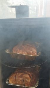 Cooking on a smoker